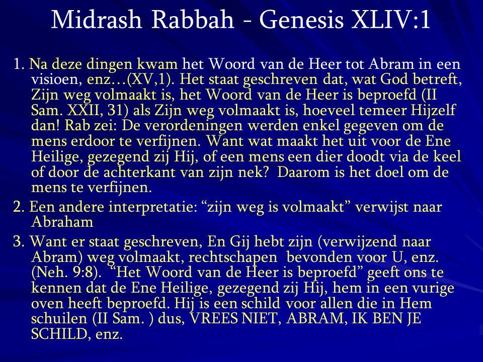 Midrash Rabbah - Genesis XLIV:1