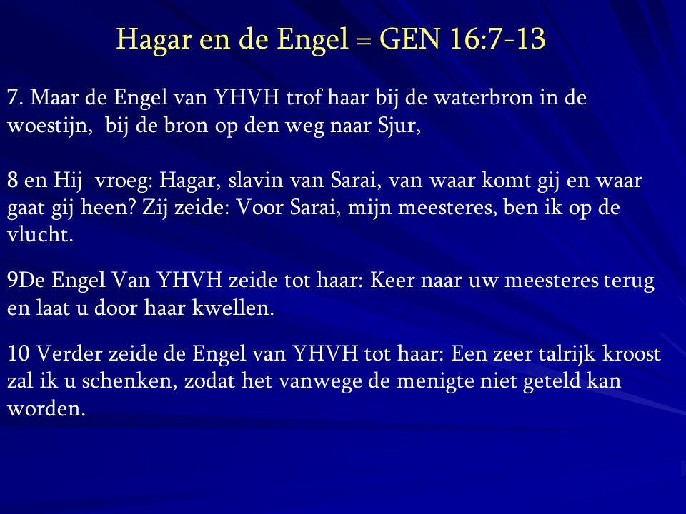 Hagar en de Engel = GEN 16:7-13