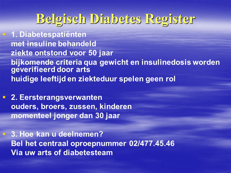 Belgisch Diabetes Register