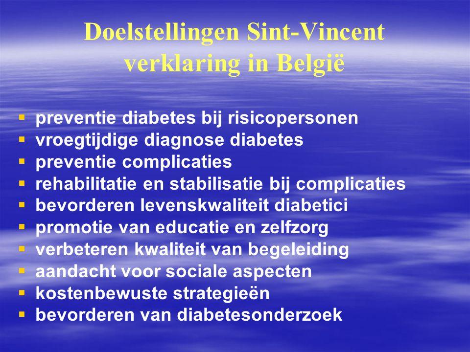 Doelstellingen Sint-Vincent verklaring in België