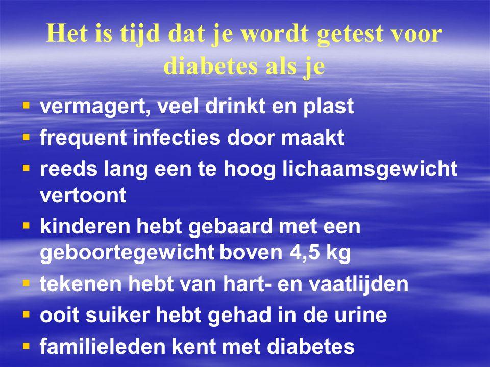Het is tijd dat je wordt getest voor diabetes als je