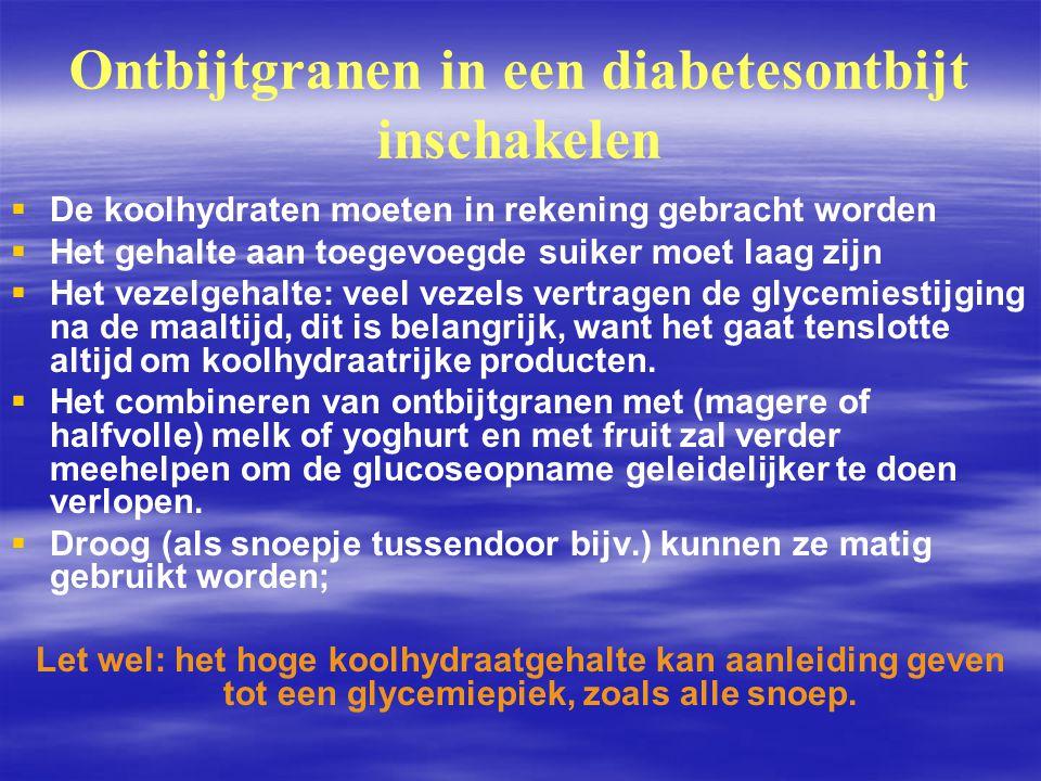 Ontbijtgranen in een diabetesontbijt inschakelen