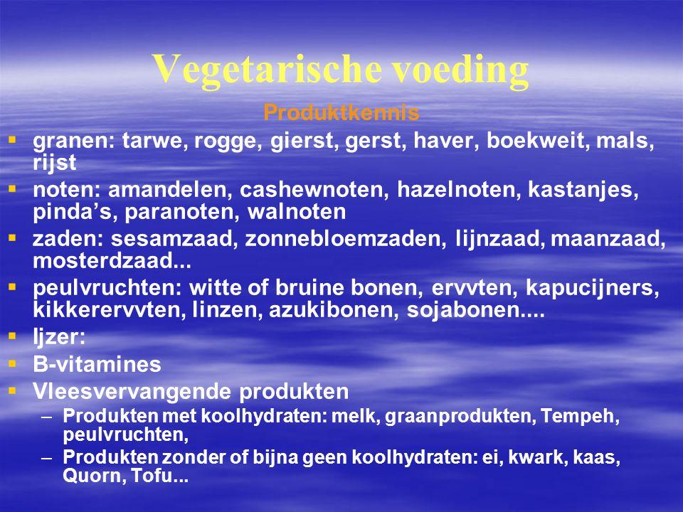 Vegetarische voeding Produktkennis