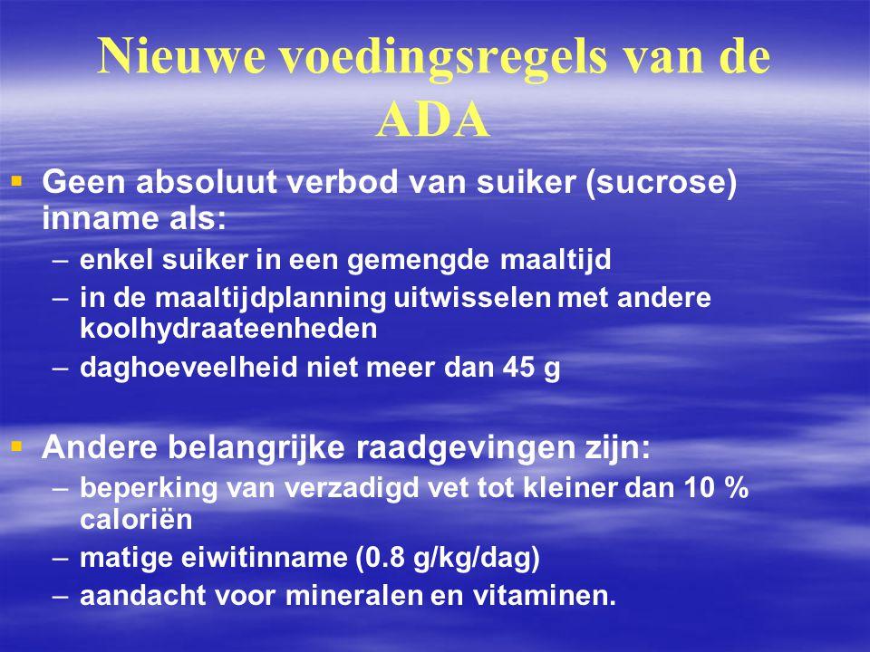 Nieuwe voedingsregels van de ADA