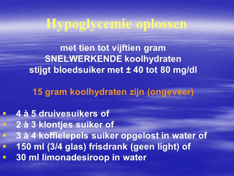 Hypoglycemie oplossen