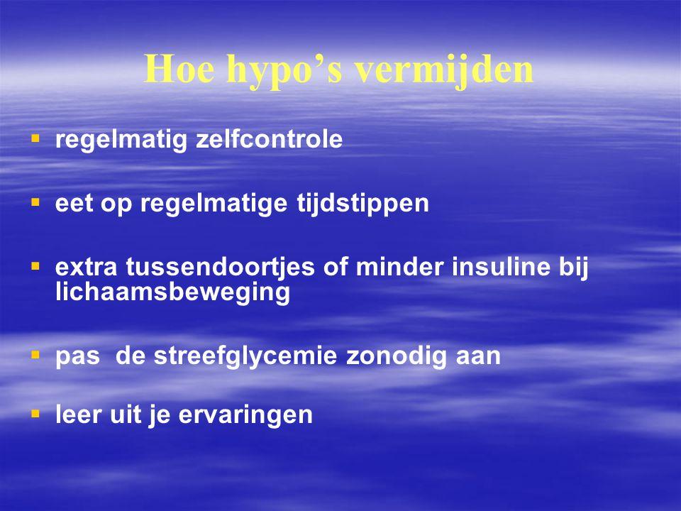 Hoe hypo's vermijden regelmatig zelfcontrole