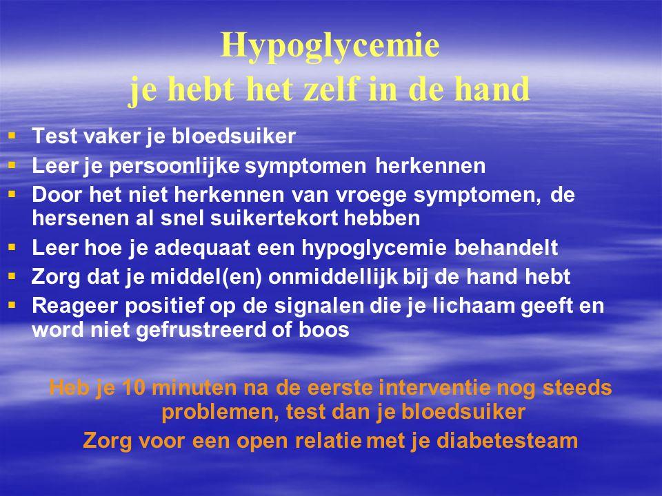 Hypoglycemie je hebt het zelf in de hand