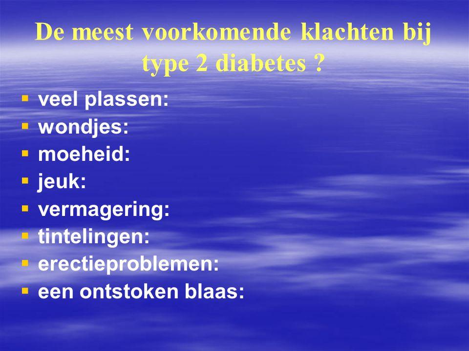 De meest voorkomende klachten bij type 2 diabetes