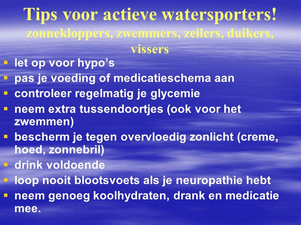 Tips voor actieve watersporters