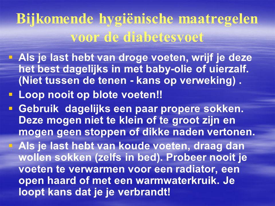 Bijkomende hygiënische maatregelen voor de diabetesvoet