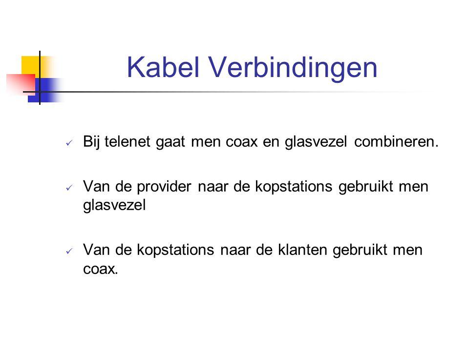 Kabel Verbindingen Bij telenet gaat men coax en glasvezel combineren.