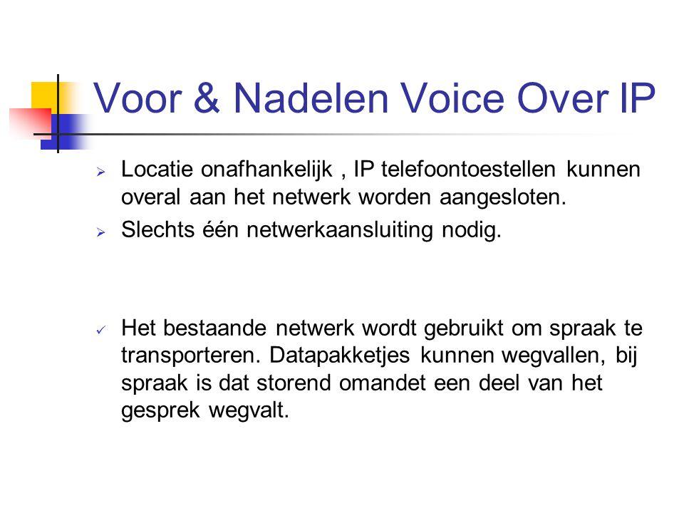 Voor & Nadelen Voice Over IP
