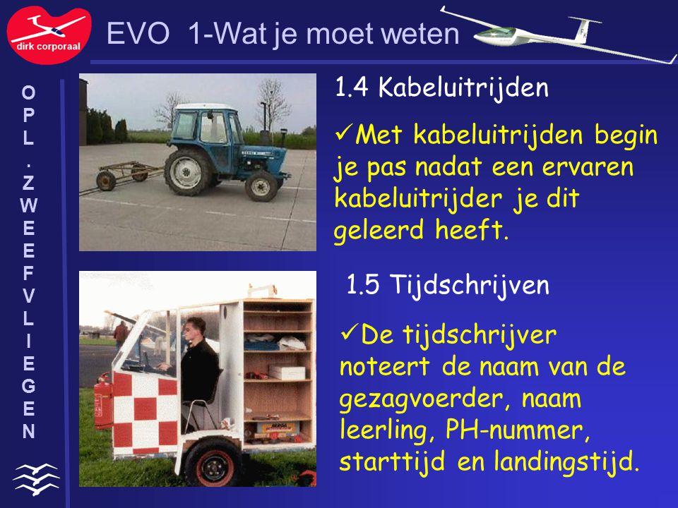 EVO 1-Wat je moet weten 1.4 Kabeluitrijden