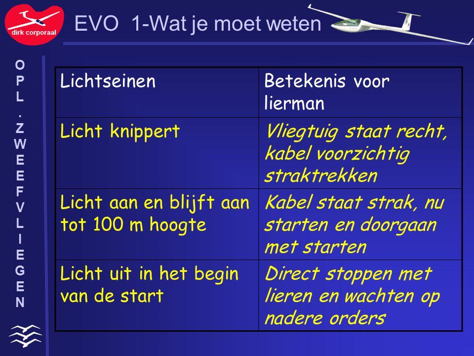EVO 1-Wat je moet weten Lichtseinen Betekenis voor lierman