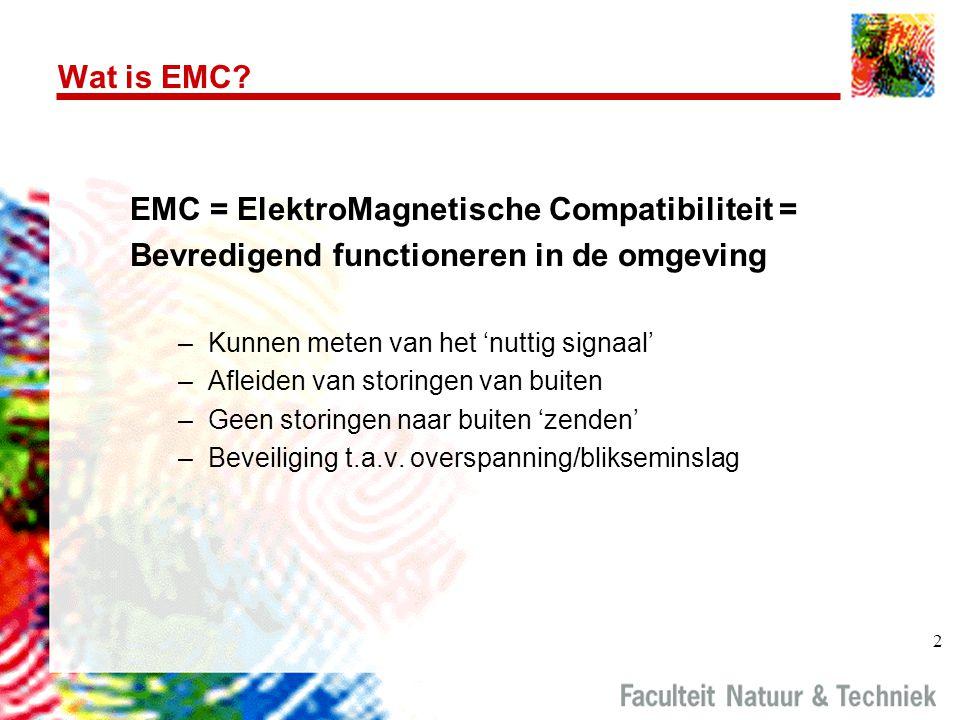 EMC = ElektroMagnetische Compatibiliteit =