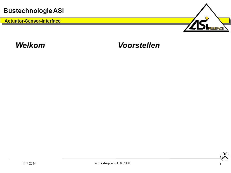 Welkom Voorstellen Bustechnologie ASI Actuator-Sensor-Interface