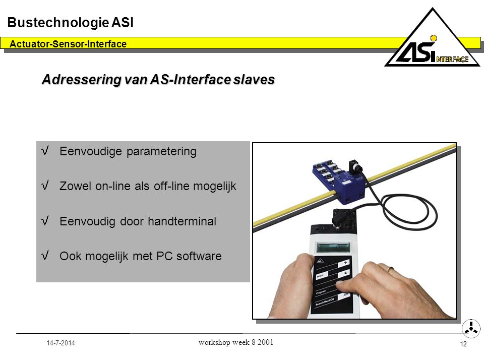 Adressering van AS-Interface slaves