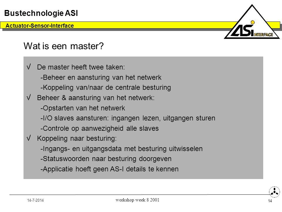 Wat is een master Bustechnologie ASI De master heeft twee taken: