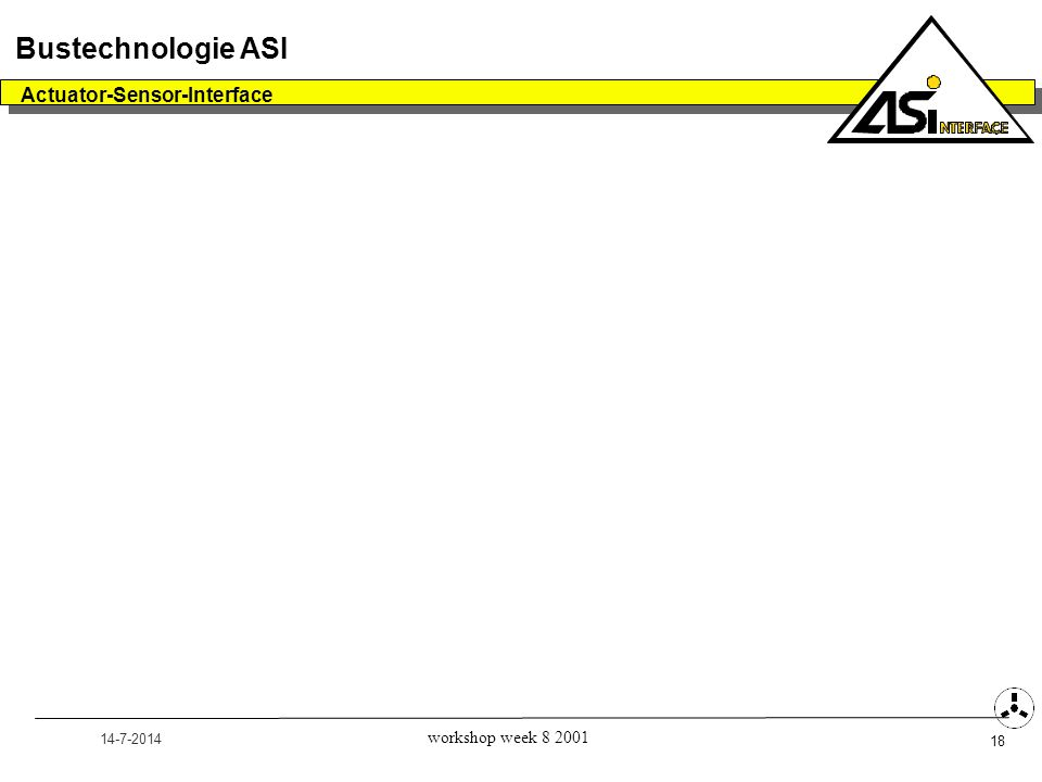 Bustechnologie ASI Actuator-Sensor-Interface workshop week 8 2001