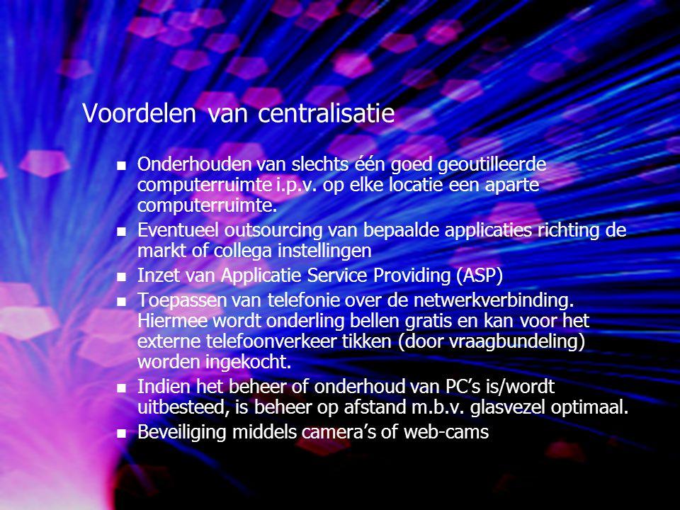 Voordelen van centralisatie