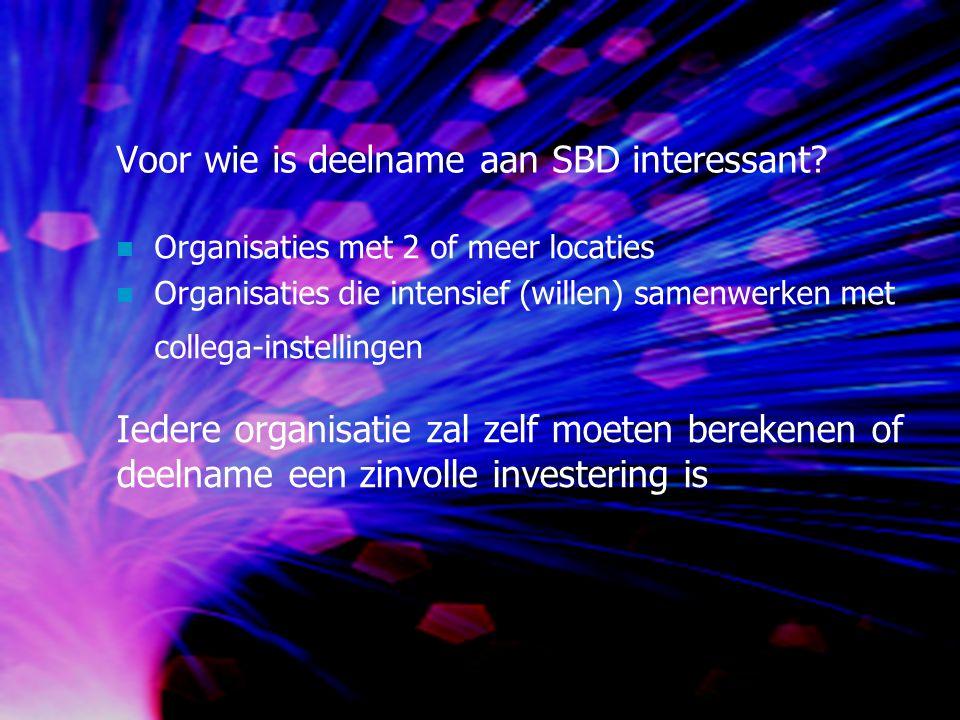 Voor wie is deelname aan SBD interessant