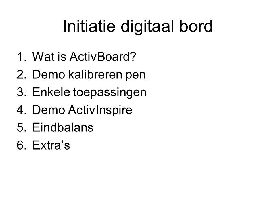 Initiatie digitaal bord