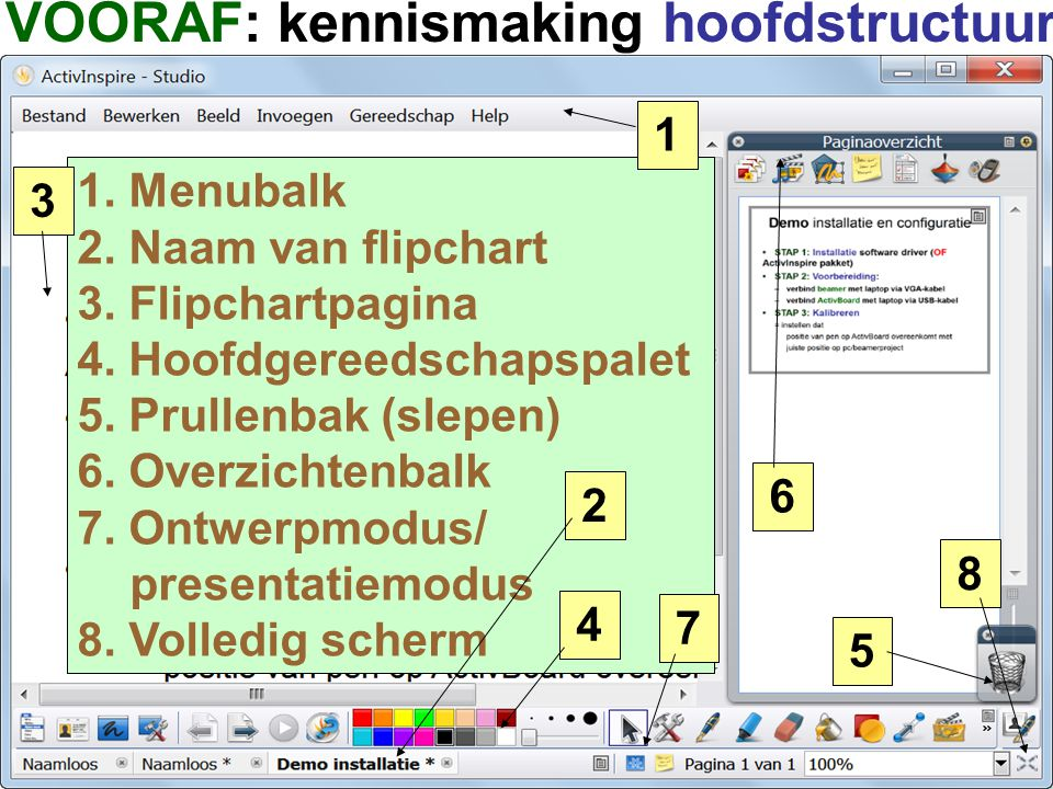 VOORAF: kennismaking hoofdstructuur