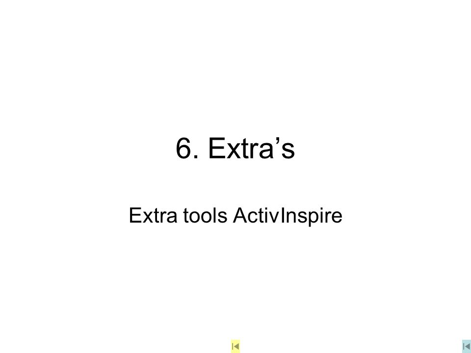 Extra tools ActivInspire