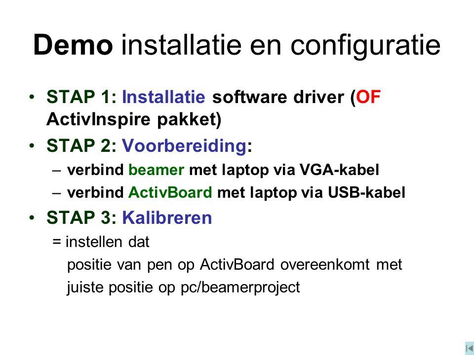 Demo installatie en configuratie