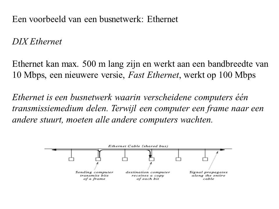 Een voorbeeld van een busnetwerk: Ethernet