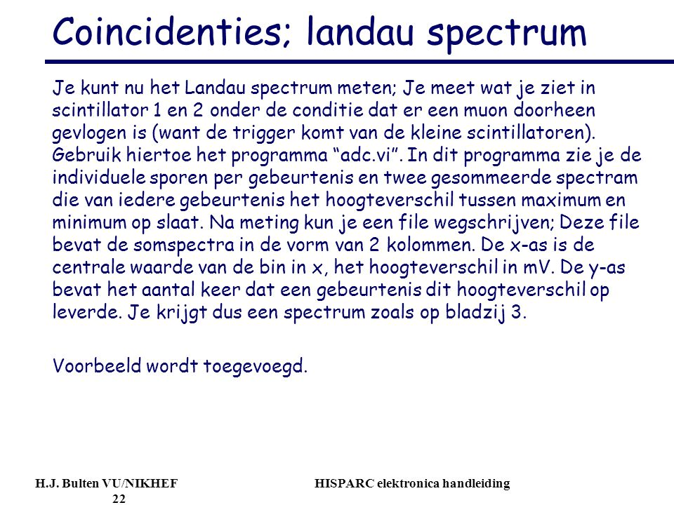 Coincidenties; landau spectrum