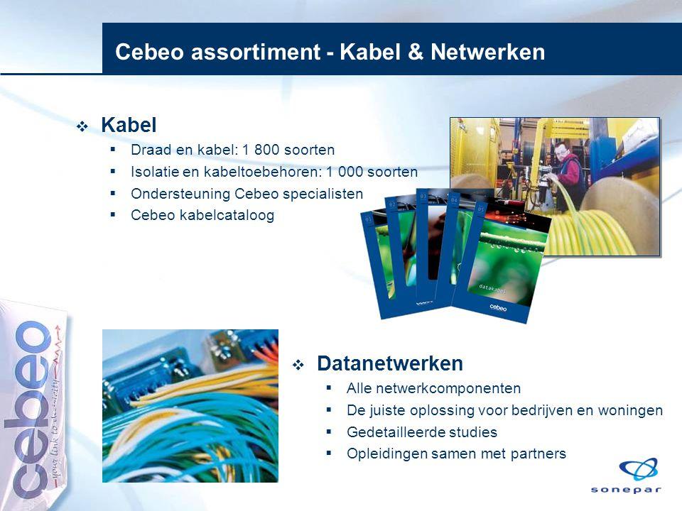 Cebeo assortiment - Kabel & Netwerken