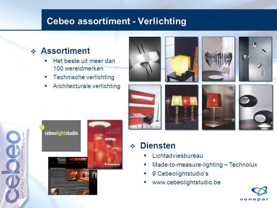 Cebeo assortiment - Verlichting