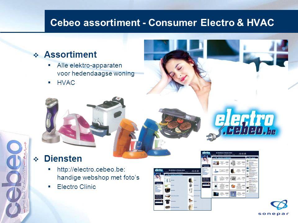 Cebeo assortiment - Consumer Electro & HVAC