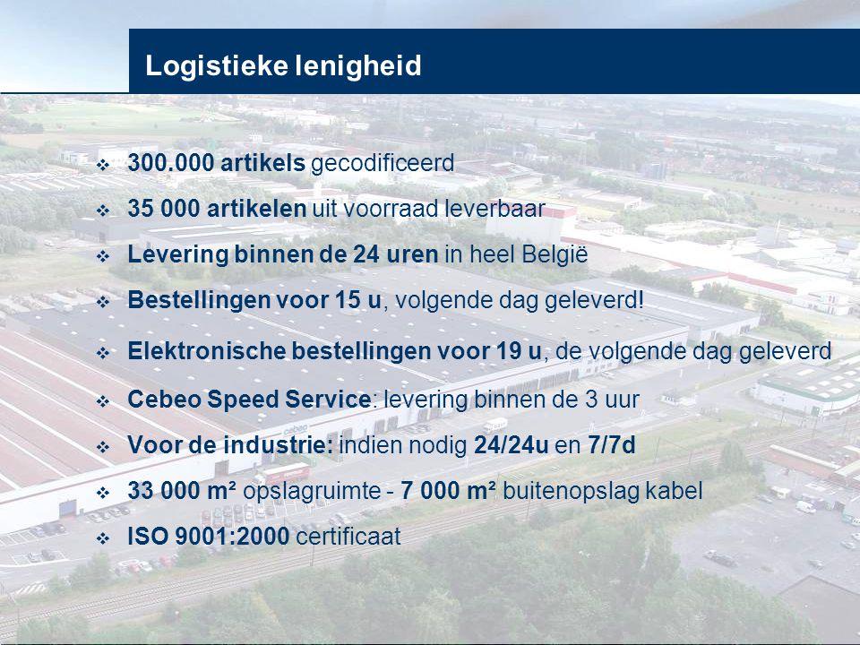 Logistieke lenigheid 300.000 artikels gecodificeerd