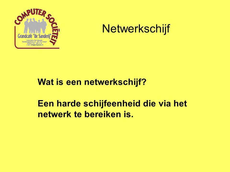 Netwerkschijf Wat is een netwerkschijf.
