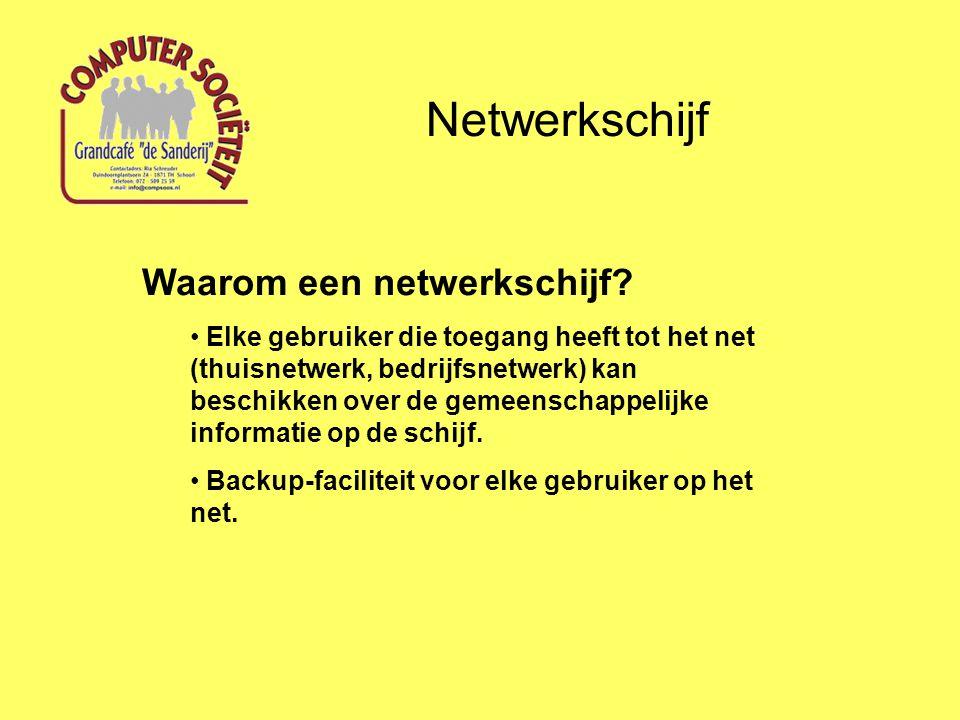 Netwerkschijf Waarom een netwerkschijf