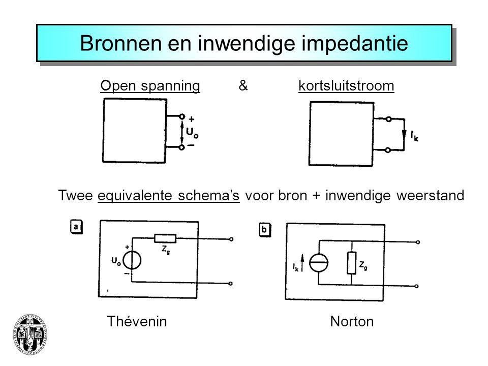 Bronnen en inwendige impedantie
