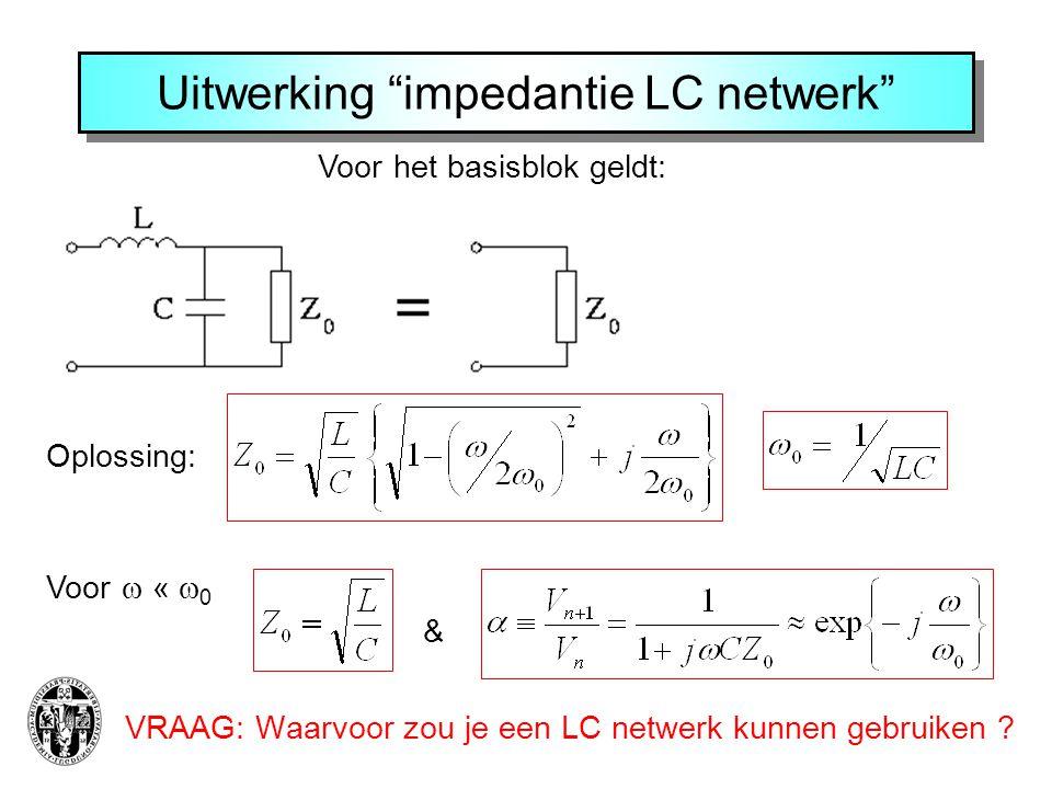 Uitwerking impedantie LC netwerk