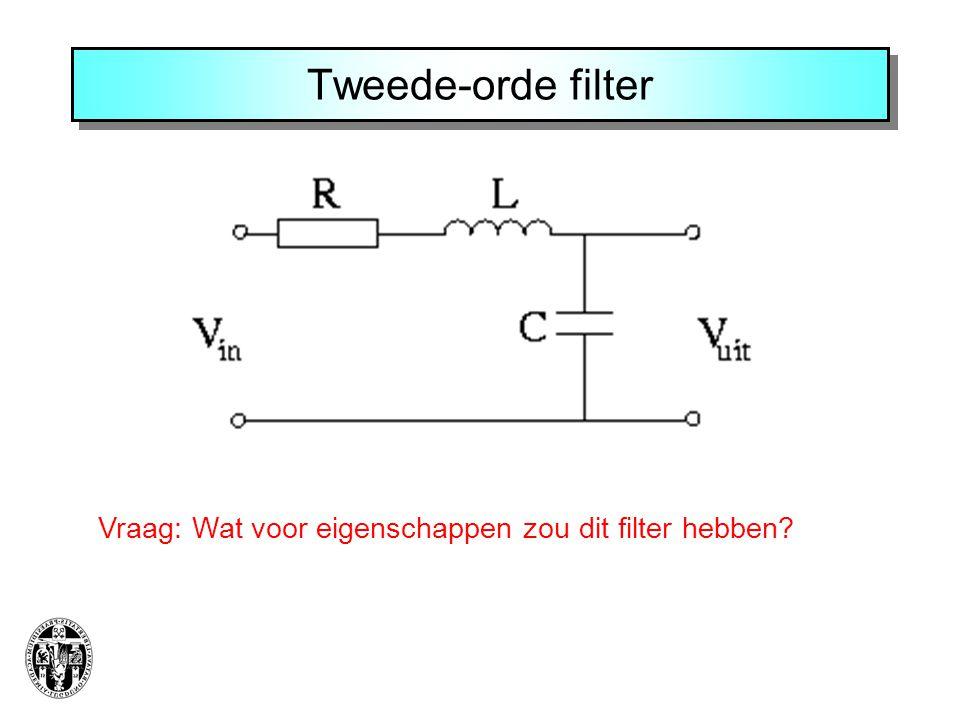 Tweede-orde filter Vraag: Wat voor eigenschappen zou dit filter hebben