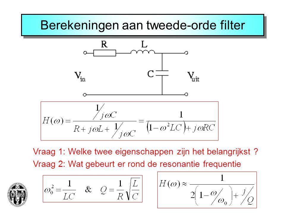 Berekeningen aan tweede-orde filter
