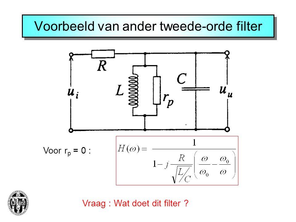 Voorbeeld van ander tweede-orde filter