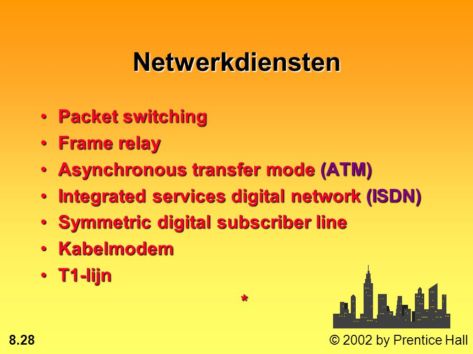 Netwerkdiensten Packet switching Frame relay