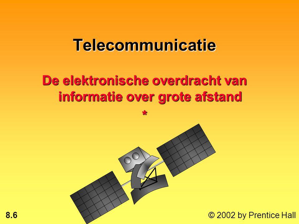 De elektronische overdracht van informatie over grote afstand