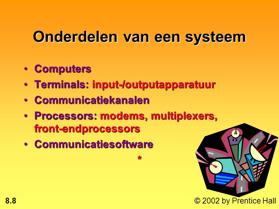 Onderdelen van een systeem