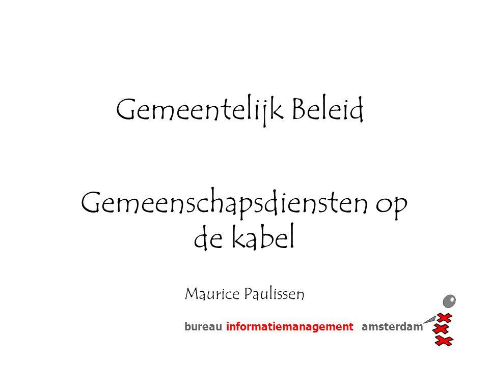 Gemeenschapsdiensten op de kabel Maurice Paulissen