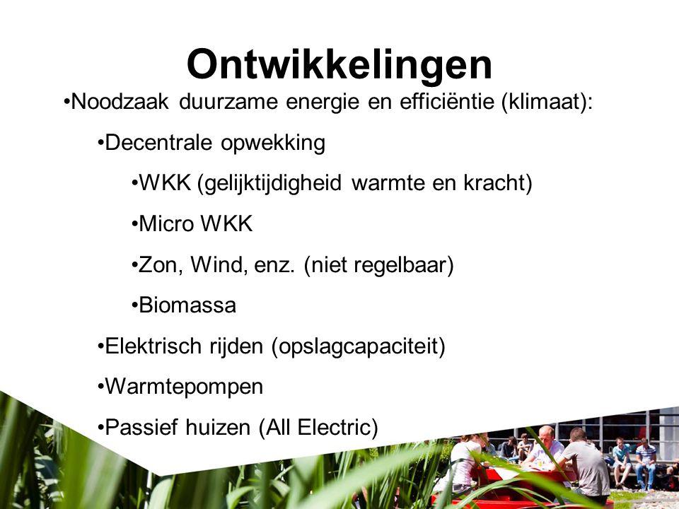 Ontwikkelingen Noodzaak duurzame energie en efficiëntie (klimaat):
