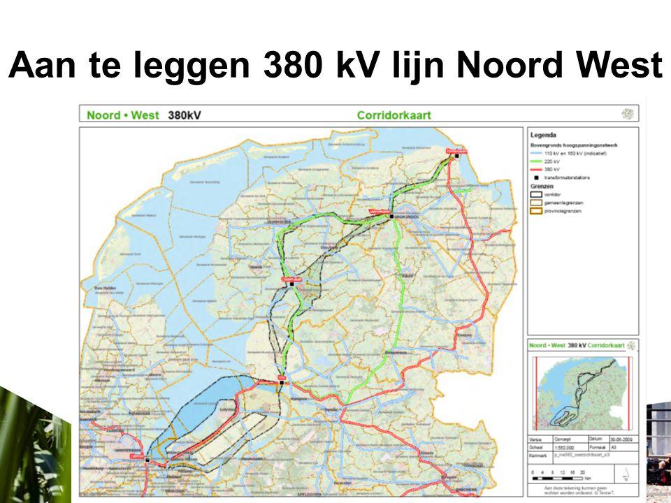 Aan te leggen 380 kV lijn Noord West