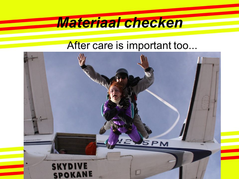 After care is important too...