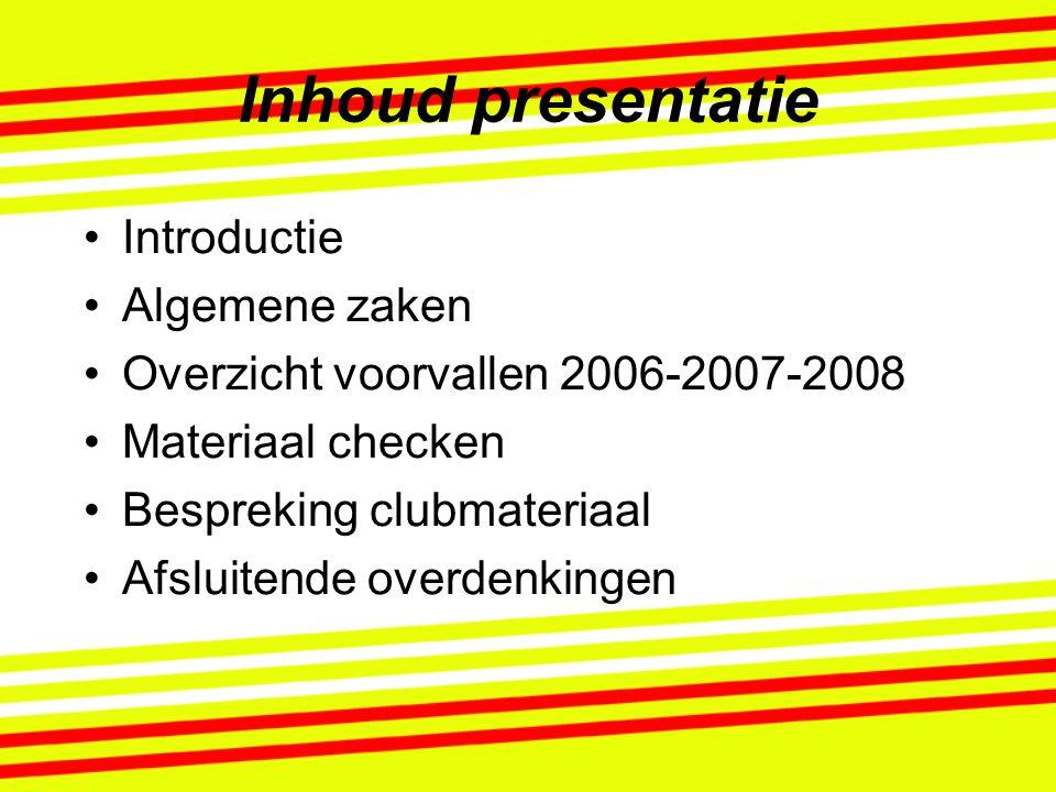 Inhoud presentatie Introductie Algemene zaken